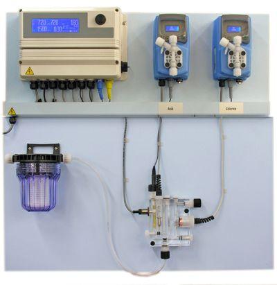 Panel de control de cloración del agua